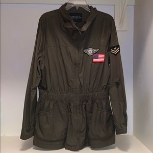 Forever 21+ military style jacket